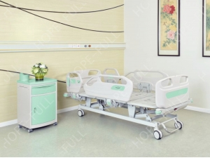 2018 Cheap PP siderail three function electric medical bed price for hospital sale