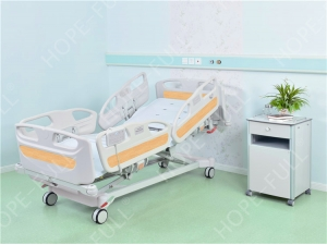 Automated hospital bed with nurse control and manual CPR
