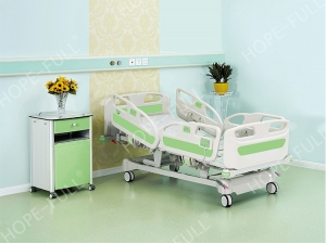 Buy hospital electric bed with ABS medical bed rails