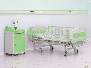 Ch376a  Two crank manual children bed
