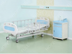 Electric home care nursing bed with aluminum alloy bedside rails