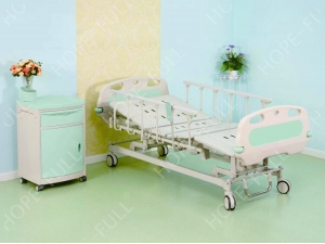 Full electric hospital bed with aluminum side rails