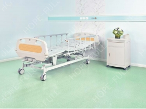HOPEFULL tres manivela cama de hospital manual para la venta