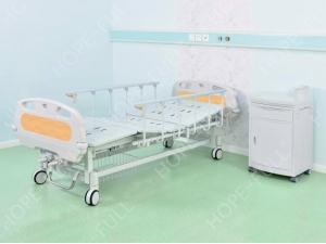 Hand crank hospital furniture two crank manual bed