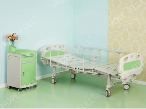 High strength two-crank deluxe hospital bed