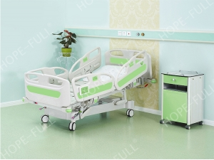 Hospital electric ICU intelligence bed with weighing scale