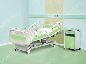 Hospital equipment electric adjustable bed mechanism