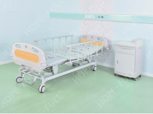 Machanical medical manual adjustable beds for patient