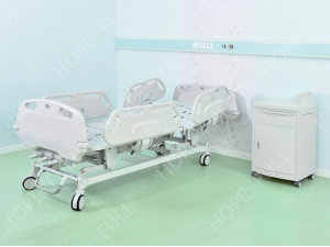 Medical ABS adjustable three 3 cranks manual hospital bed