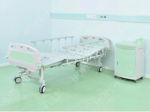 Two function manual hospital bed and caster with individual brakes