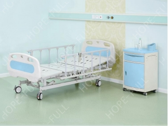 China Electric home care nursing bed with aluminum alloy bedside rails factory