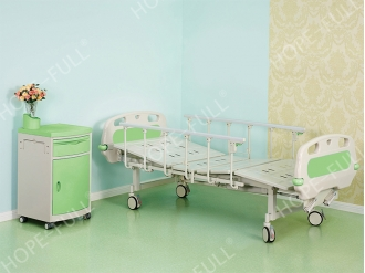China High strength two-crank deluxe hospital bed factory