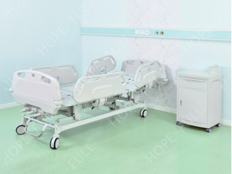 China Medical ABS adjustable three 3 cranks manual hospital bed factory