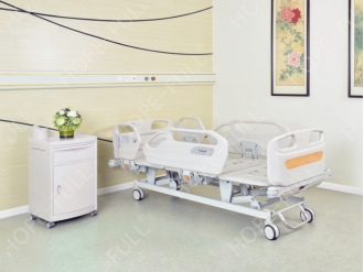 China Professional hospital bed manufacturer three function electric bed factory